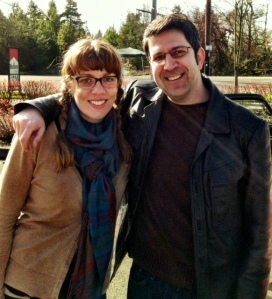 Me with my writing mentor, Scott Nadelson.